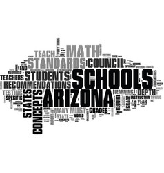 Arizona schools math standards is there a better vector