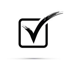 Back tick icon vector