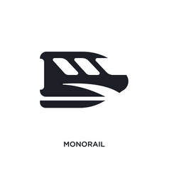 Black monorail isolated icon simple element from vector