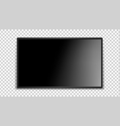 black screen realistic glossy surface dark thin vector image