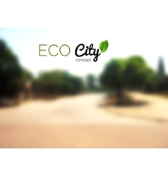 Blurry country background street eco vector