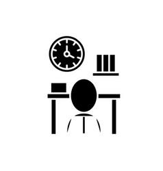 Bureaucracy black icon sign on isolated vector