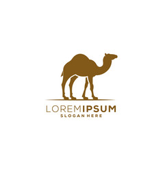 Camel logo animal design vector
