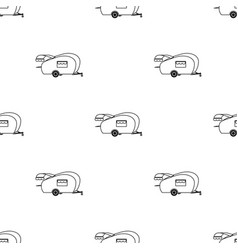 Caravan icon in black style isolated on white vector