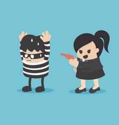 Catch culprit a business woman vector