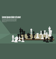 chess pieces on chess board vector image