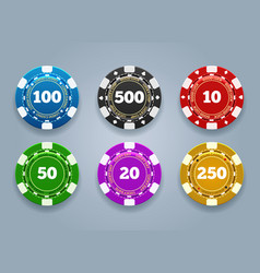 chips casino coins vector image