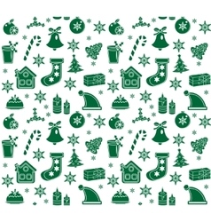 Christmas seamless pattern background texture vector image