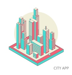 City app vector image
