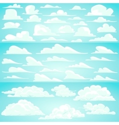 Collection of cartoon clouds vector