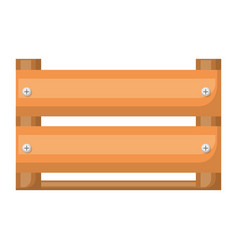 Colorful silhouette of wooden box in closeup vector