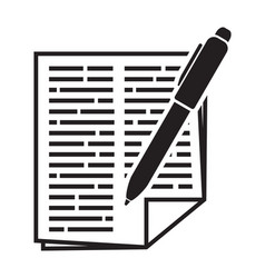 contract sheet vector image