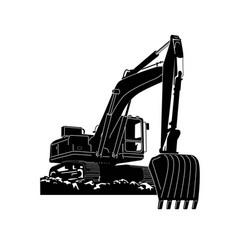 crawler excavator modern flat vector image