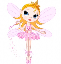 cute fairy vector image