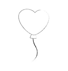 Cute heart balloons vector