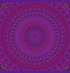 Dark purple mandala ornament background - round vector