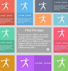 Discus thrower icon sign Set of multicolored vector