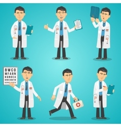 Doctor Character Set vector image