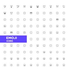 emoji icons set vector image