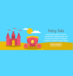 Fairy tale banner horizontal concept vector