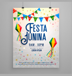Festa junina celebration party invitation vector