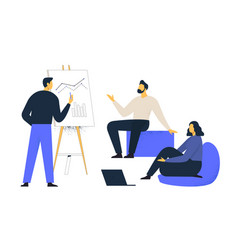 financial administration concept consulting for vector image