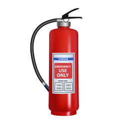 fire extinguisher - realistic vector image