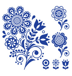 Floral design folk art ornament vector