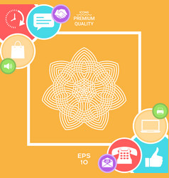 geometric arabic pattern logo element for your vector image