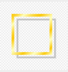 gold frame isolated shadow vector image