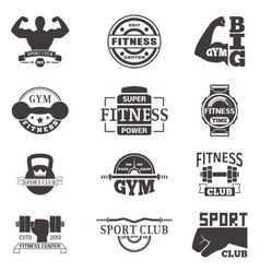 Gym fitness logo badge vector