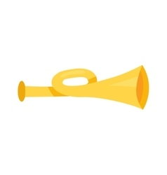 Horn trumpet vector image