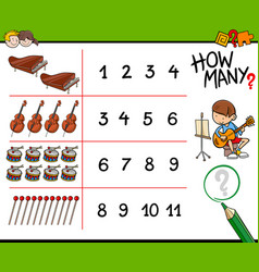 How many musical instruments counting game vector