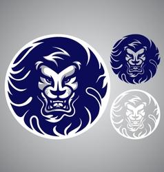 Lion head blue logo vector