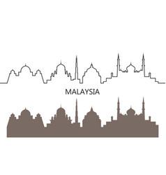malaysia vector image
