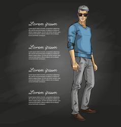man model vector image