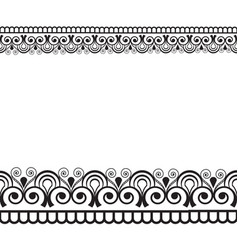 mehndi henna line lace seamless element with vector image