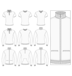 Mens short and long sleeve clothes vector
