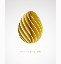 modern trendy abstract origami paper easter egg vector image