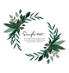 nature decoration leaves vector image