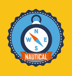 Nautical compass navigation location equipment vector