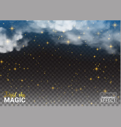 night sky magic stars cloud design shining space vector image vector image
