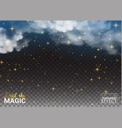 night sky magic stars cloud design shining space vector image