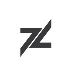Number 77 geometric arrow logo vector