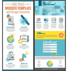 One page web site template vector image