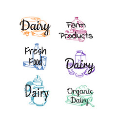 piles of milk products vector image
