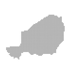 pixel map of niger dotted map of niger isolated vector image