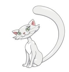 Pretty cat sitting 2 vector