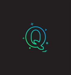 quora icon design vector image