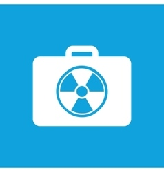 Radioactive bag icon simple vector